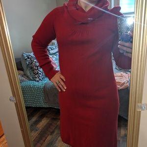 BANANA REPUBLIC LUXURY CASHMERE BLEND RED DRESS